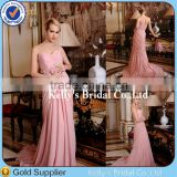 elegant prom dresses with sleeveless applique beaded belt pink color gorgeous bridesmaid dresses