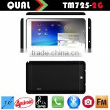 7 inch cheap gsm tablet pc with mtk 8312 tablet Dual Core 2G phone call Bluetooth GPS FM function Android 4.2