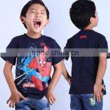 new 2016 latest design in store led flashing lights up boys spiderman t shirt with 100% cotton fabric and cartoon logo