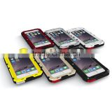 Best Hybrid Combo Cell Phone Case Waterproof Shockproof Metallic Casing Cover Silicone Bumper for iPhone 5 5s