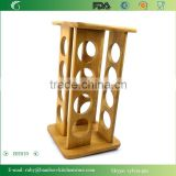 BH010/ Rolling Up Art Bamboo Wooden Salt Pepper Spice Rack for Kitchen and Wedding Gift