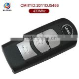 AK026016 433Mhz remote complete car key for Mazda key card 3 button