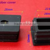 Square Rubber Tube Insert Closure / Square End Insert For Pipe / Square Round Rubber End Cap Feet