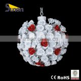 SD0748/5 countryside style round ball wrought Iron flower indoor decorative chandelier/wedding room hanging lamp