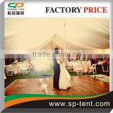 Hot sale Romantic and Dreamy outdoor Wedding events Pole Tent inner view with dance floor ( 500 seater)