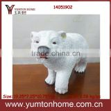 Beautiful resin black/ white color bear for decorations