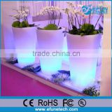 outdoor plastic garden led illuminate flower pot, balcony plastic LED luminous planter pot