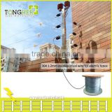 304 electric fencing stainless steel wire for security fence