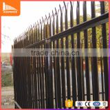 40*40*4mm angle iron security palisade fence durable polyester powder coated palisade fencing