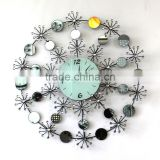 oversized round metal wall clock design