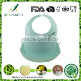 Selling well biodegradable quality assurance bamboo fiber baby bib