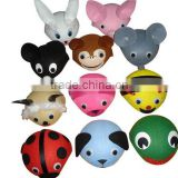 Funny types of kid's fitted animal shaped custom cap wool fabric material child hat for Costume play party on sale