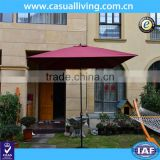 2X3M Aluminium Patio Garden Umbrella Tilt Sun Shade Outdoor Cafe Beach Parasol 10 Steel Rib with Crank