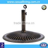 Heavy Duty Cast Iron Bronze Powder-Coated Umbrella Base Stand