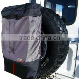 4x4/4wd/off road spare wheel back pack, heavy duty spare wheel organizer bag