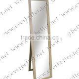 Wholesale Wood color floor standing mirror for living room