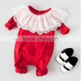 2017 latest summer infant wholesale fashion boutique kid Clothing baby clothes baby lace rompers