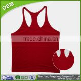 Cheap wholesale relaxed fit contrast mesh backing for ventilation fitness tank top women