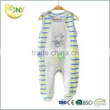 Organic Cotton Muslin Fabric Baby Rompers Wholesale