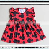 2017 Wholesale children's clothing girls dresses In stock items girl dress cartoon printing party dresses