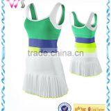 custom blank Girl's /child Bright Pleated fashion girl Tennis Dress wholesale
