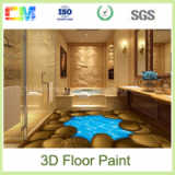 New design scuff resistance anti acid liquid resin epoxy 3d floor paint
