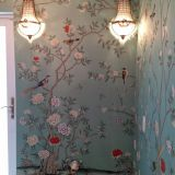 Hand painted silk wallpaper