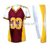 Wholesale 100% Polyester Knitted American Football Uniform