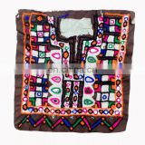 Indian Vintage Handmade banjara neck yoke with embroidery and mirror work Banjara front dressing neck yoke patch to embellish