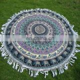 Mandala Beach Throw With Lace SSTH@454