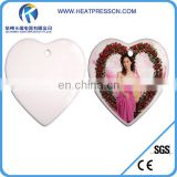 "6""heart procelain pendent for Sublimation Printing"
