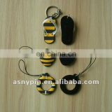 mobile phone strap with screen cleaner