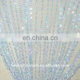 Light Blue Faux Crystal Iridescent Beads Curtain