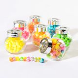 Flat glass jar with screw lid,180ml Jam Glass Jar