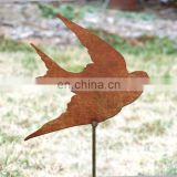 Outdoor corten steel metal peacock garden ornaments decoration