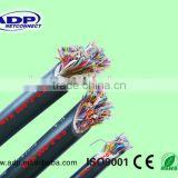 Category3 UTP 24AWG 0.50mm Bare Copper 10 Pair Indoor Non Armored No Jelly PVC Sheath Telephone Cable