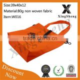 Foldable eco-friendly europe standard Folding low price hot sale folding shopping bag with handle