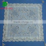 100% polyester table cloth with beads embroidery and cutwork houseware household textile