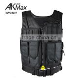 Military Tactical Vest, 1000D waterproof nylon ISO standard for security with hydration bag