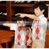 2016 New fashion woolen kids school uniforms for t shirt sexy high school uniform wholesale primary school uniform (ulik-013)