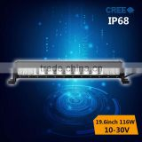 116w ip68 Diecast aluminum led light bar for off road,3w beside,10w middle cree in one bar