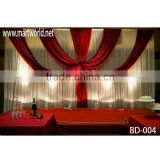 Hot sale curtain fabric wedding stage decoration,wedding backdrop for wedding&party decoration(BD-004)