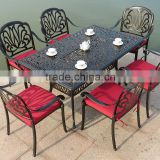 Metal Commercial Garden Patio Outdoor Furniture Rectangular 6 Seat Antique Cast Wrought Iron Dining Table                                                                         Quality Choice