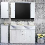 Bathroom Hanging Furniture High Gloss Black Color LED Light Vanity Western Bathroom Hanging Furniture