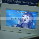 Rechargeable Battery Operated Digital Photo Frame 7 inch Black Video Frame