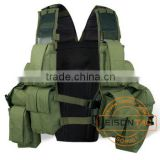 Military Tactical Vest Adopting high strength 1000D waterproof nylon is very comfortable to wear and better to protect the body