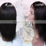 14 inches #2 Silk straight 100% Indian remy human hair lace wigs accept customer order