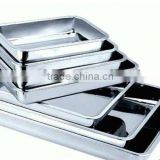 stainless steal square plate/ net square plate with hole/frozen square plate with holder