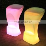 2014 modern party evening rental wedding club decor glowing led sofa chair/led arm chair lighted