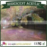 Hot Sale Beautiful Iridescent Acrylic Sheet Fluorescent /dichroic mirror